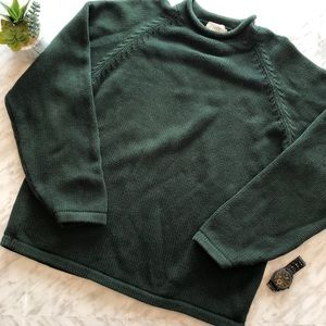 J. Crew Heavy Cotton Cable Knit Sweater X-Large